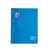 Cuaderno Oxford A4 cuadriculado 90g turquesa 80h
