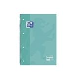 Cuaderno Oxford A4 cuadriculado 90g menta 80 hojas
