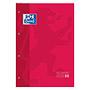 Recambio Oxford A4 cuadriculado 90g rojo 80 hojas