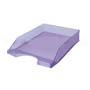 Bandeja plástico sobremesa frosted violeta.