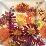 Plato pequeño deco home ramo flores 18x18cm PEK583900