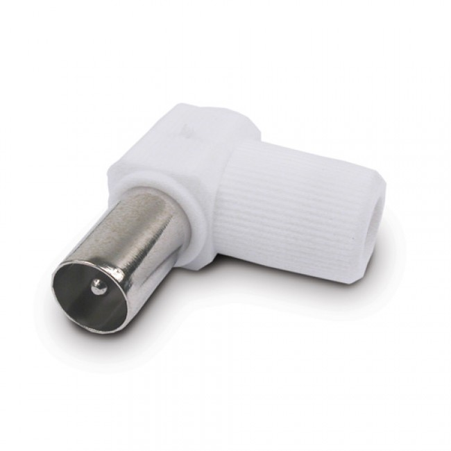 Connector Codo Macho Blanco Axil
