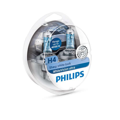 Set lampara H4 Whitevision 2H4+2W5W Philips