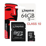 Targeta Memòria Micro SD 64GB + Adaptador Class10 Kingston