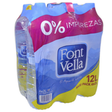 Agua manantial Font Vella paq. de 6 botellas