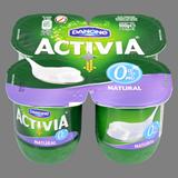 Iogurt activia Danone desnatat natural 4 u. de 125 g