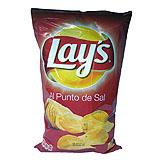 Patates fregides chips Lay's al punt de sal
