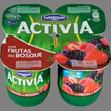 Iogurt activia Danone amb fruites del bosc 4 u. de 125 g
