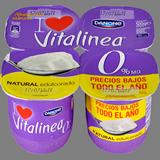 Iogurt vitalinea Danone natural edulcorat paq. 4 u. x 125 g