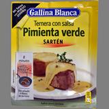 Salsa pebre verd Gallina Blanca sobre