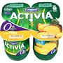 Iogurt activia descremat Danone amb pinya 4 u. de 125 g