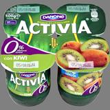 Iogurt activia desnatat Danone amb kiwi 4 u. de 125 g