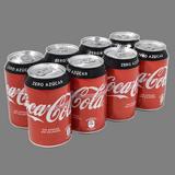 Refresco Zero Coca Cola paq. de 8 latas