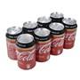 Refresc Zero sense cafeïna Coca Cola paq. de 8 llaunes