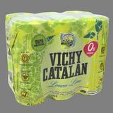 Agua con gas lima - limón Vichy paq. de 6
