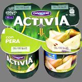 Iogurt activia Danone amb peres 4 u. de 125 g