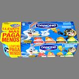 Iogurt sabors maduixa-macedònia-llimona-galeta Danone paq. 8 u. x 125 g