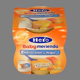 Crema préssec/iogurt Hero Baby m'agrada paq. 2u de 130 g