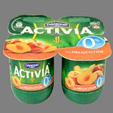 Iogurt activia desnatat Danone amb préssec 4 u. de 125 g