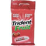 Xiclet maduixa Trident Fruit stick blister paq. 5 u.