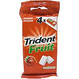Xiclet maduixa Trident Fruit dragea blister paq. 4 u.