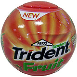 Xiclet maduixa Trident Sphere dragea bola plàstic