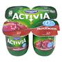 Iogurt activia desnatat Danone amb fruits vermells 4 u. de 125 g