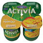Iogurt activia Danone amb mango 4 u. de 125 g