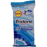 Xiclet menta Trident 60 minuts paq. 3 u.