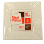 Plat plastic Maxi products cuadrat blanc