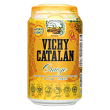 Agua con gas Vichy naranja lata