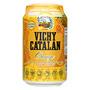 Aigua amb gas Vichy taronja llauna