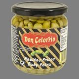 Faves mini baby Celorrio amb oli d'oliva verge extra