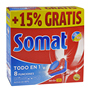 Detergent rentavaixelles Somat 5 tot en 1 30 + 5 pastilles