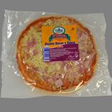Pizzeta de bacón y queso
