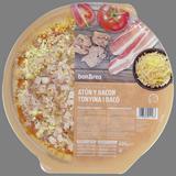 Pizza de atún y bacón