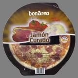 Pizza de jamón curado