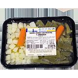 Mongetes verdes amb patata i pastanaga