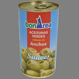 Olives verdes farcides d'anxoves suaus 240/280