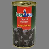 Aceitunas negras sin hueso 240/260 lata