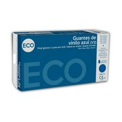 Guante de vinilo azul Eco L