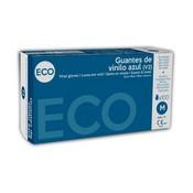 Guante de vinilo azul Eco M