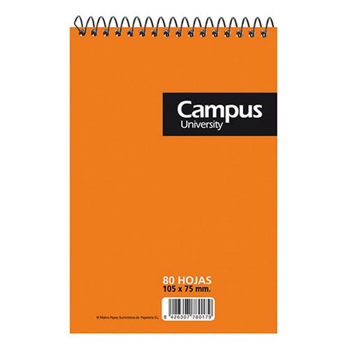 Bloc espiral Campus A7 quadriculat 80 fulls