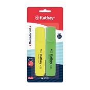 Retolador fluorescent groc i verd Kathay