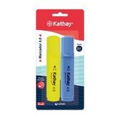 Retolador fluorescent groc i blau Kathay