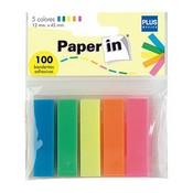 Notes adhesives Plus 5 banderetes 100u
