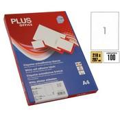 Etiquetes autoadhesives Plus Office A4 100u