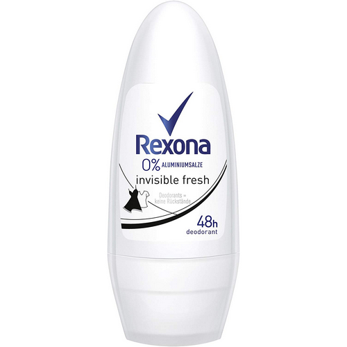 Rexona desodorant 0% invisible roll-on.