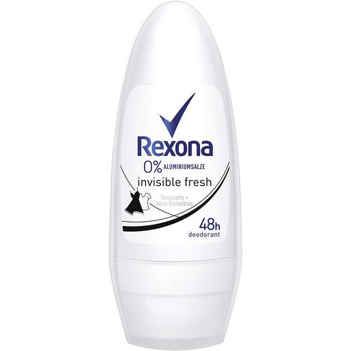 Rexona desodorant 0% invisible roll-on.