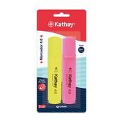 Retolador fluorescent groc i rosa Kathay